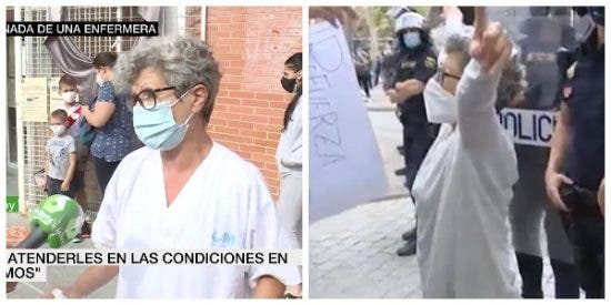 """La enfermera 'obrera' de laSexta, cazada protestando contra Ayuso al grito de """"es segregación, no es confinamiento"""""""