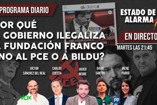 TERTULIA / ¿Por qué el Gobierno ilegaliza la Fundación Franco y no al PCE ni a Bildu?