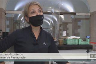 Los cenutrios separatistas linchan a una camarera del bar del Parlamento catalán por hablar español en TV3