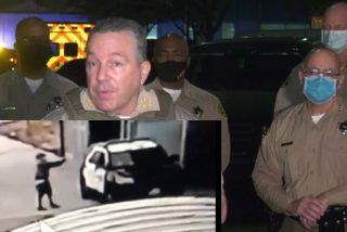 El vídeo capta el instante en que un tipo, sin motivo alguno, acribilla a quemarropa a dos alguaciles del Sheriff de Los Ángeles