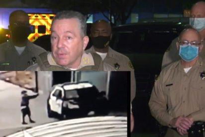 El vídeo capta el instante en que un tipo acribilla a quemarropa a dos alguaciles del Sheriff