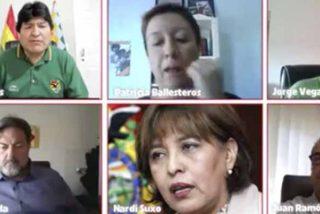 IU y el PCE se abrazan al 'estuprador' Evo Morales en un acto sobre Bolivia