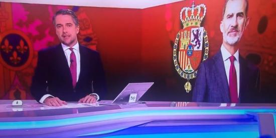 Franganillo (TVE) intoxica a la audiencia del Telediario con una falsedad sobre la ausencia del Rey en el acto del CGPJ