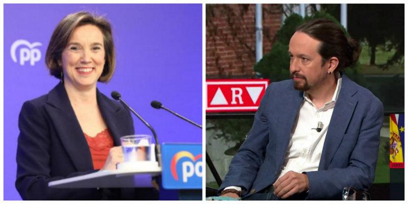 """Cuca Gamarra (PP) sobre Pablo Iglesias: """"'El coletas' se atusa bien el pelo, pero no trabaja mucho"""""""""""