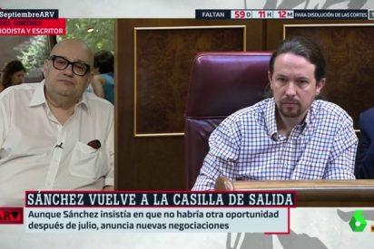 """Miquel Giménez se toma a chacota la intransigencia de Iglesias: """"El 'viceMaduro' me bloquea, con lo buen chico que soy"""""""""""