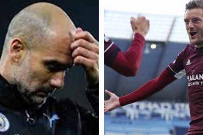 Guardiola culpa a sus jugadores por la soberana paliza que propinó Vardy al Manchester City