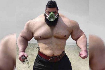 Vuelve el Hulk iraní: recuperado del COVID-19 y anuncia un combate mortal