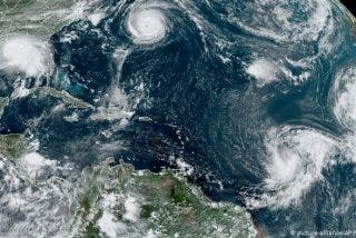 Detectan cinco ciclones al mismo tiempo en el Atlántico por segunda vez en la historia