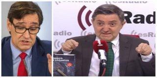 """Losantos 'trepana' al ministro Illa por su diagnóstico sobre Madrid: """"¡Vete a esparragar, inútil!"""""""