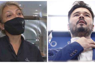 Un tuit de Rufián se hace viral tras el acoso a la camarera del Parlamento catalán que habló español en TV3