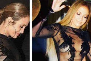 Fallo escandaloso del vestido de Jennifer Lopez: la diva lo tiene grande y clarito