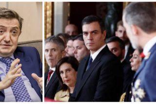 """Losantos implosiona con la última acusación de Sánchez contra Felipe VI: """"Hay que tener poca vergüenza para acusar de agresor al agredido"""""""