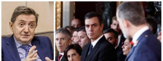"""Losantos implosiona con la última acusación de Sánchez contra Felipe VI: """"Hay que tener poca vergüenza"""""""