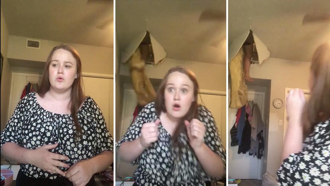 La madre cae del techo como un obús, mientras la hija canta en TikTok