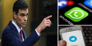 Pura receta comunista: El Gobierno de Sánchez podrá intervenir WhatsApp para difundir mensajes