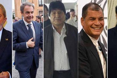 Los corruptos Lula, Correa, el estuprador Morales y el dictador Maduro piden junto a Zapatero la liberación de Assange