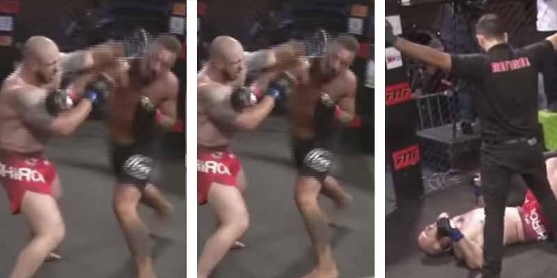 Un derechazo fulminante protagoniza el primer 'autoshow' de MMA en Brasil