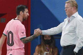 La foto de la discordia: la reacción de Messi al ser sustituido por Koeman en el Barça-Girona