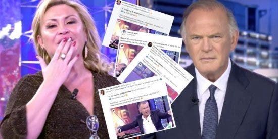Reputados rostros del periodismo se rebelan contra la tremenda falta de respeto de Raquel Mosquera a Pedro Piqueras