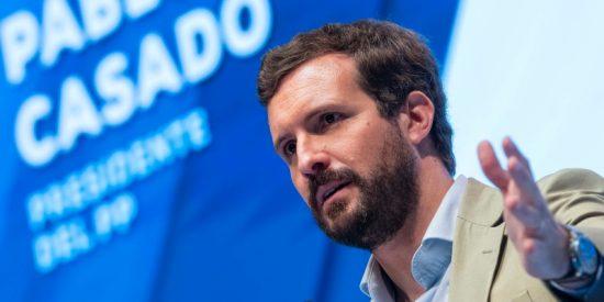 """Pablo Casado (PP): """"Sánchez es un 'pato cojo', un mago de verbena al que se le ven todos los trucos"""""""