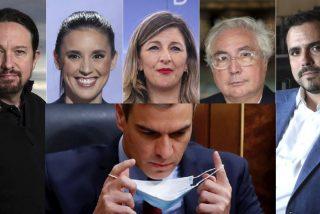 El Gobierno PSOE-Podemos se parte en dos ante los planes de congelar el sueldo a los funcionarios
