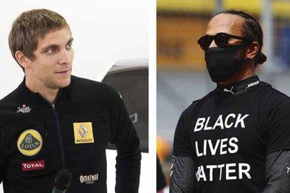 """La dura crítica de Petrov contra Hamilton: """"Si un piloto confiesa ser gay, ¿saldrá con una bandera de arcoíris?"""""""