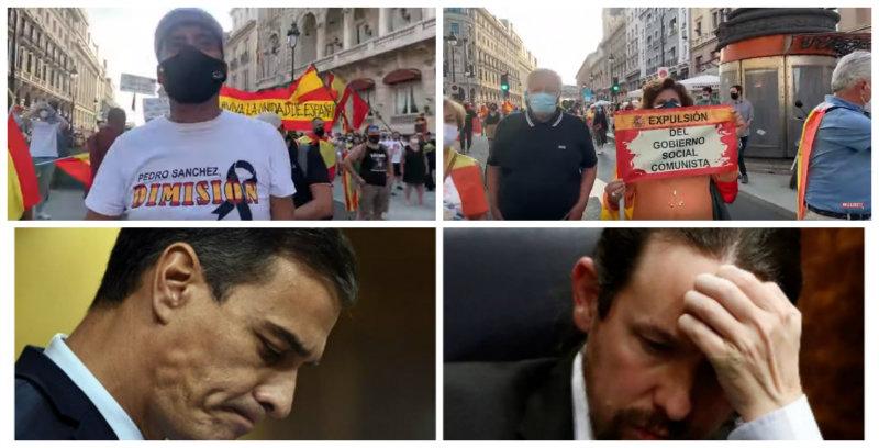 Decenas de miles de personas protestan en toda España contra los bulos del Gobierno Sánchez-Iglesias