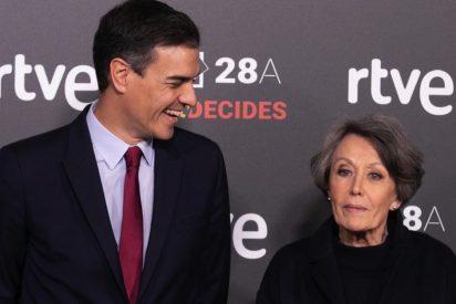 """Mano de palos a la """"Televisión Espantosa"""" de Rosa María Mateo por ocultar el pésame de Sánchez ante el suicidio de un etarra"""