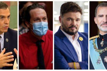 La campaña de Iglesias y los separatistas contra Felipe VI cuaja en Moncloa: Sánchez excluye al Rey del gran acto judicial en Barcelona