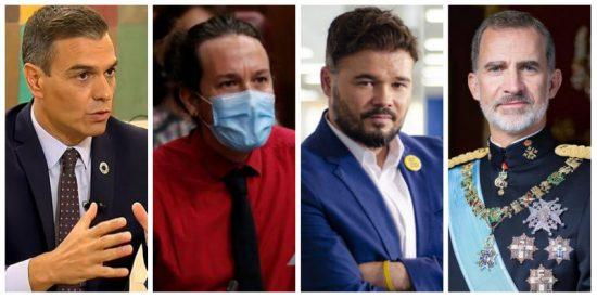 La campaña de Iglesias y los separatistas contra Felipe VI cuaja en Moncloa: Sánchez veta al Rey