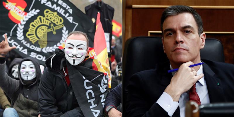 Policía y Guardia Civil declaran la 'guerra' a Sánchez por su pésame a un etarra: protestarán ante el Congreso