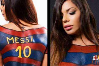 """Suzy Cortez se desnuda contra el Barcelona: """"Están tratando a Messi como basura, ahora soy del Manchester City"""""""