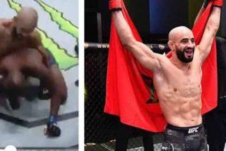 KO relampagueante en la UFC: El rival de Azaitar solo soporta un minuto de pie
