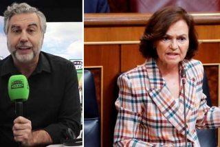 """El monumental repaso de Carlos Alsina a la demagoga Carmen Calvo: """"Que le explique a Bildu en qué consiste la memoria democrática"""""""