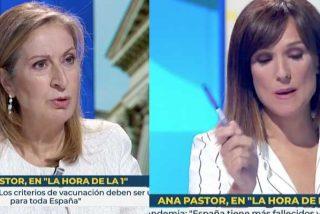 """Ana Pastor (PP) zarandea a la 'nueva Fortes': """"Yo le respondo, cosa que no hizo ayer con usted Pedro Sánchez"""""""