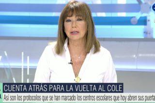 """El fastuoso regreso de Ana Rosa Quintana apuntando con el dedo a Sánchez e Iglesias: """"¡No hay Gobierno al volante!"""""""