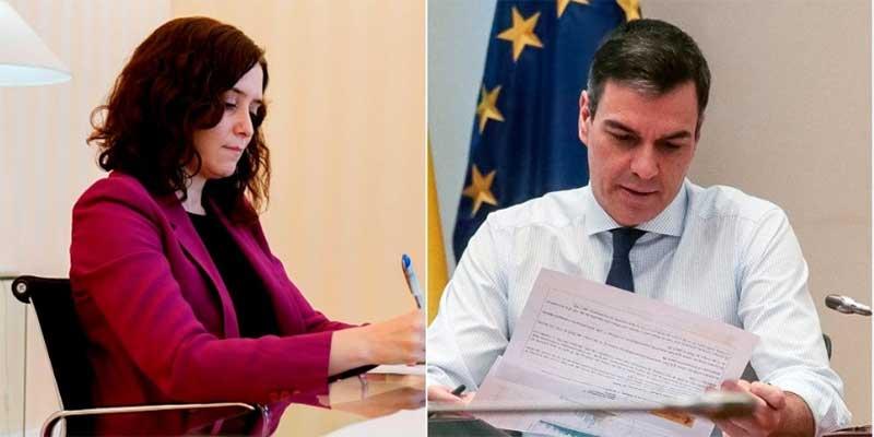 """Pedro Sánchez habla de """"tú"""" a Díaz Ayuso en su carta pero utilizó el """"usted"""" cuando escribió al golpista Quim Torra"""