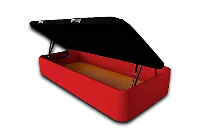 Canapés abatible rojo