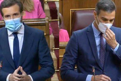 """Casado revienta a Sánchez: """"La segunda oleada del coronavirus le pilló tomando el sol, al igual que la primera convocando manifestaciones"""""""