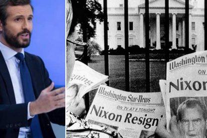 Los medios subvencionados por Sánchez 'cocinan' una nueva ocurrencia y comparan la 'Kitchen' del PP con el escándalo del Watergate