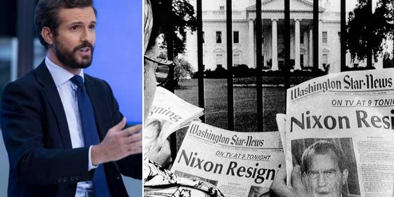 Los medios subvencionados por Sánchez comparan la 'Kitchen' del PP con el escándalo del Watergate