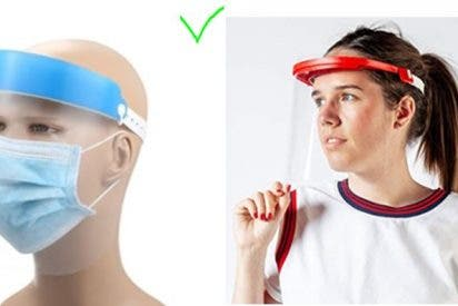 Cómo usar la pantalla o visera facial protectora