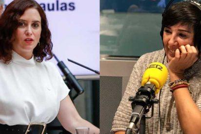 """Colaboradora de la Cadena la SER llama """"descerebrada de derechas"""" a Ayuso y """"nazi"""" a Rocío Monasterio"""