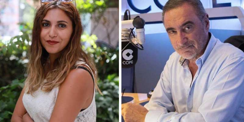 """El libelo de Dina Bousselham vomita bilis contra Herrera: """"Su sueldo sale de los chanchullos de la COPE con el 'trifachito' andaluz"""""""