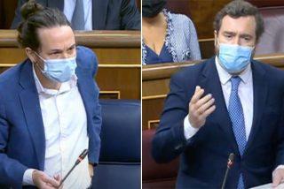 """Pablo Iglesias 'borra' su amenaza a la oposición y Espinosa de los Monteros (VOX) le humilla: """"Ustedes son un fraude"""""""