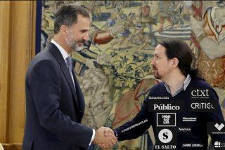 Medios de izquierda hincan la rodilla ante Pablo Iglesias: lanzan un crowdfunding para crear un 'CIS comunista' contra Felipe VI