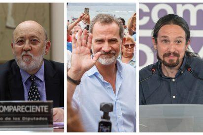 Estrepitoso fracaso republicano: Iglesias, obligado a utilizar el 'CIS de Podemos' para atacar a Felipe VI