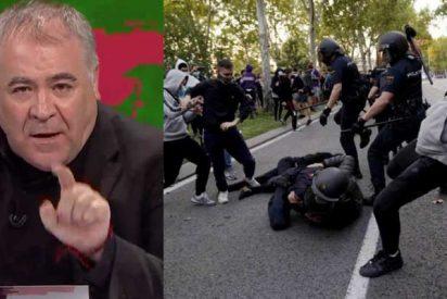 Más periodismo: un lacayo de García Ferreras ataca a la Policía por las cargas en Vallecas contra los antisistema