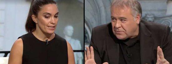 Ferreras usa el 'poder blando' para acallar con mucho talante a una tertuliana que atacó a Sánchez por su escapada a Bruselas