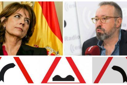 Juan Carlos Girauta se mofa de Dolores Delgado a cuenta de las señales de tráfico machistas